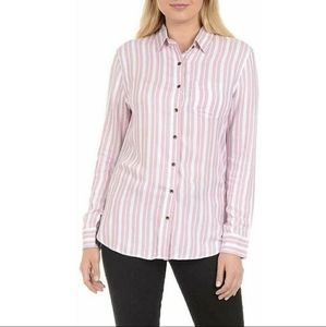 Jachs girlfriend striped button down shirt